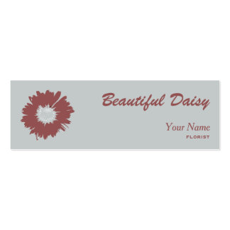 daisy marsala and gray Double-Sided mini business cards (Pack of 20)
