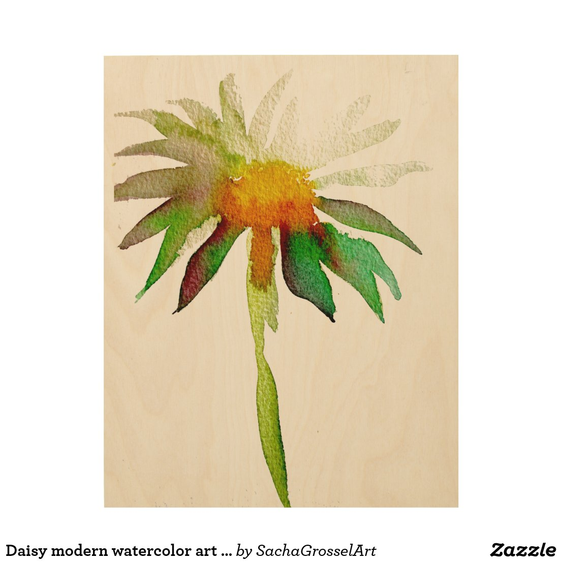 Daisy modern watercolor art flower