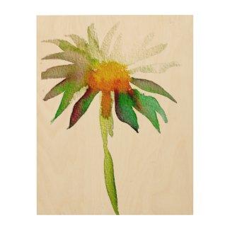 Daisy modern watercolor art flower