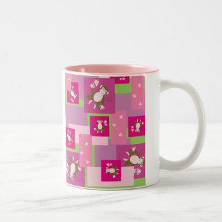Daisy Monkey Two-Tone Mug