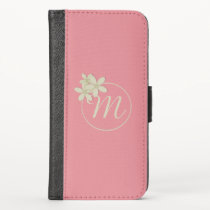 Daisy Monogram Candy Pink iPhone X Wallet Case