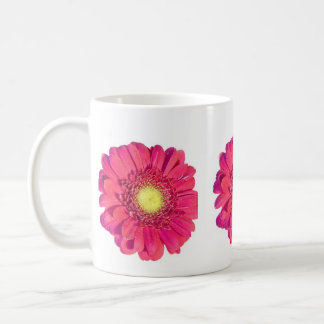 Daisy mus classic white coffee mug