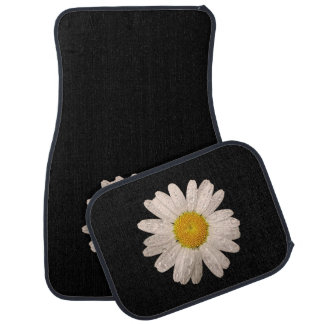 Daisy on Black Car Mats