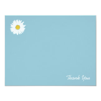 Daisy on Blue | Flat Thank You Note Card
