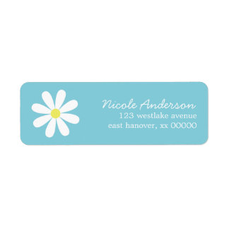 Daisy on Blue Custom Return Address Label