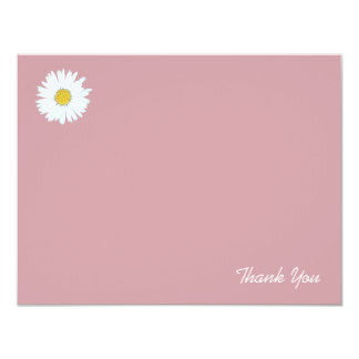 Daisy on Dusky Pink | Flat Thank You Note Card