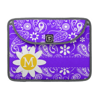 Daisy on Electric Indigo Paisley Sleeve For MacBook Pro
