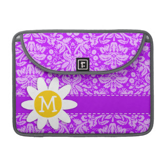 Daisy on Electric Purple Damask MacBook Pro Sleeve