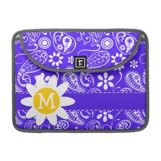 Daisy on Han Purple Paisley Sleeve For MacBooks
