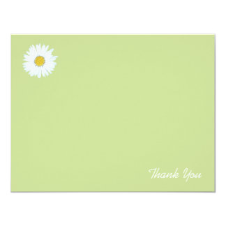 Daisy on Light Green | Flat Thank You Note Card