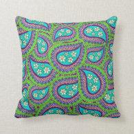 Daisy Paisley Pillow