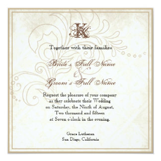Daisy, Pansy, Rose n Butterfly, Wedding Invitation