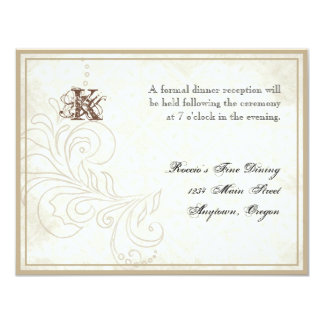 Daisy, Pansy, Rose n Butterfly - Wedding Reception 4.25x5.5 Paper Invitation Card