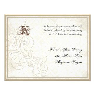Daisy, Pansy, Rose n Butterfly - Wedding Reception Custom Invites