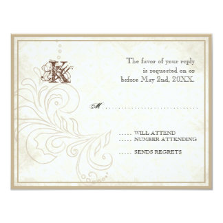 Daisy, Pansy, Rose n Butterfly - Wedding RSVP Card