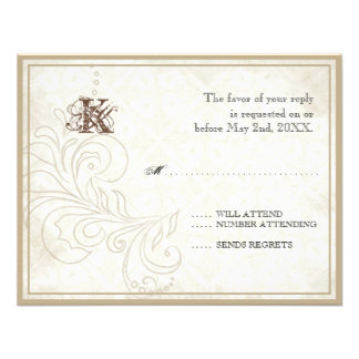 Daisy, Pansy, Rose n Butterfly - Wedding RSVP Card Personalized Invite