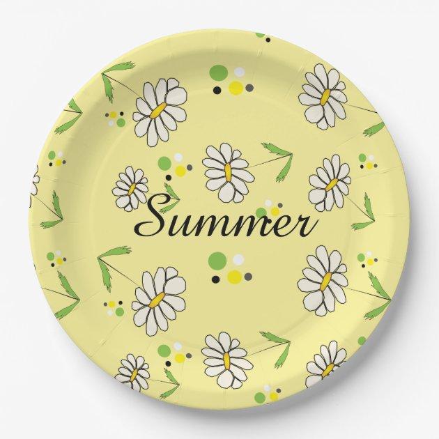 Daisy Paper Plates Patterns - Patterns Kid