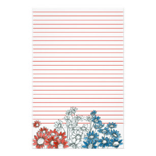 lined daisy invitations stationery zazzle