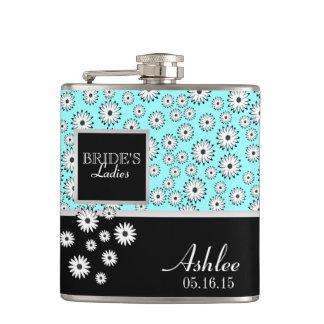 Daisy Pattern Bridesmaid Hip Flask
