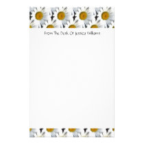 Daisy Pattern Customizable Stationery