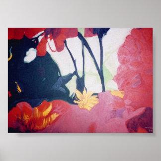 daisy peeking print