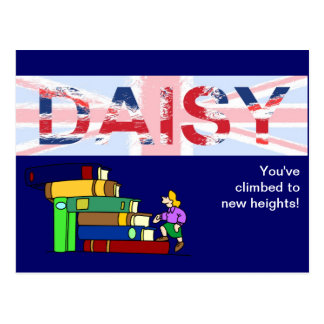 Daisy, personalised gift postcard