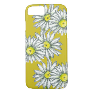 Daisy Phone Case Mustard Yellow Floral Art