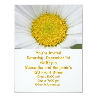 """Daisy Photo 4.25"""" X 5.5"""" Invitation Card"""