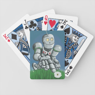 Daisy Picking Robot Bicycle Playing Cards