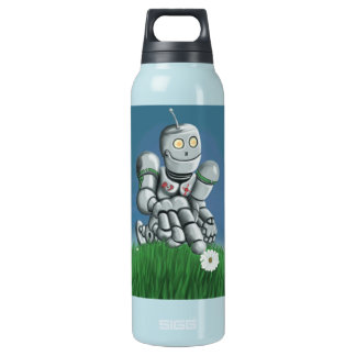Daisy Picking Robot Insulated Water Bottle