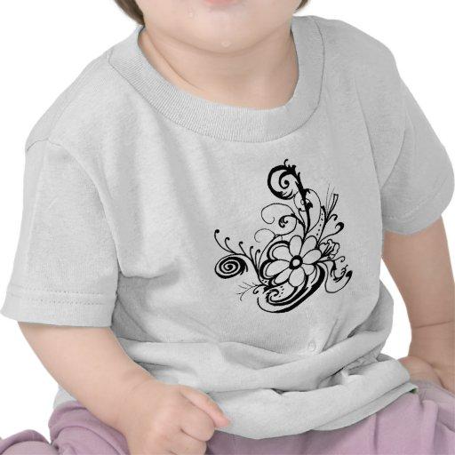 daisy.png negro camisetas