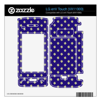 Daisy Polka Dot on a Dark Blue Background Skins For LG enV Touch