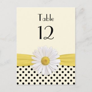 Daisy Polka Dot Special Occasion Table Card postcard