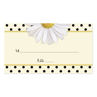Daisy Polka Dots Wedding Place Cards Double-Sided Standard Business Cards (Pack Of 100)
