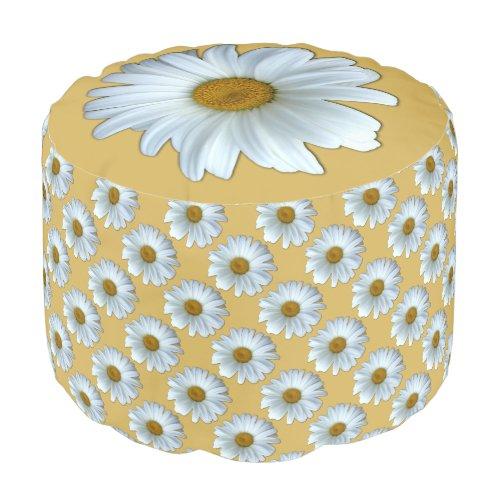 Daisy Pouf Ottoman Daisy Flower Pillow Footstool