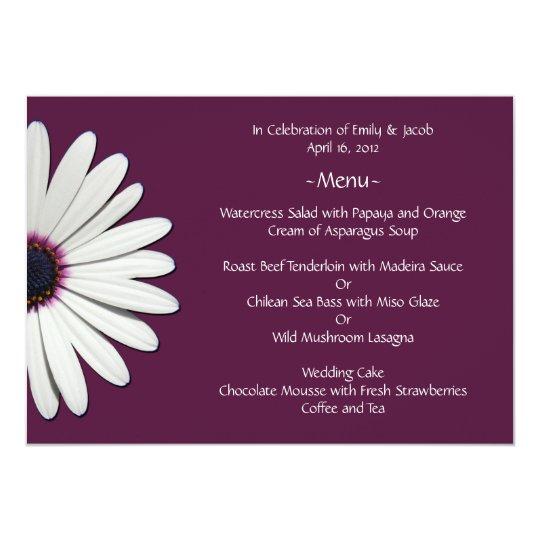 Daisy Purple Menu Cards