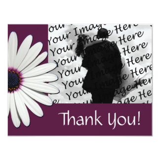 Daisy Purple Photo Thank You Flat Cards