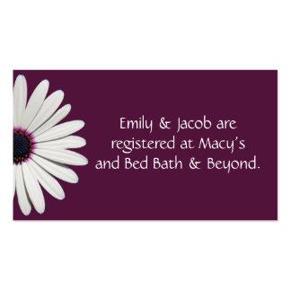 Daisy Purple Registry Insert Cards Business Card
