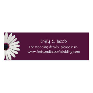 Daisy Purple Wedding Website Insert Cards Double-Sided Mini Business Cards (Pack Of 20)