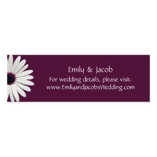 Daisy Purple Wedding Website Insert Cards Mini Business Card