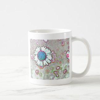 Daisy Rainbow Hot Pink Aqua Blue Colorful Mug