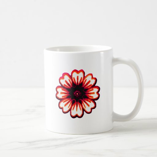 Daisy Red transp The MUSEUM Zazzle Gifts Classic White Coffee Mug
