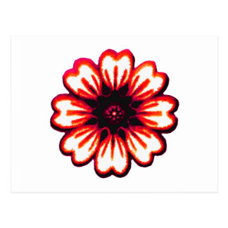 Daisy Red transp The MUSEUM Zazzle Gifts Postcard