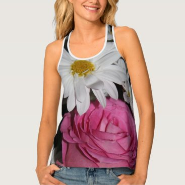 Beach Themed Daisy Rose Tank Top