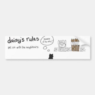 Daisy Rules Bumber Sticker 'Neighbours'