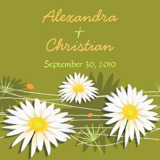 Daisy Save The Date Wedding Announcement 3 magnet