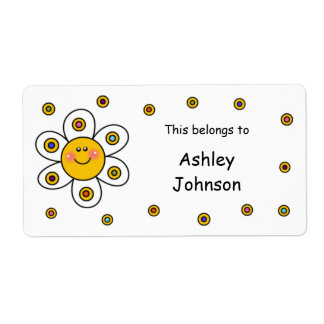 Daisy School Supplies Labels Shipping Label