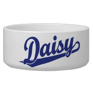Daisy Script Logo in Blue Bowl