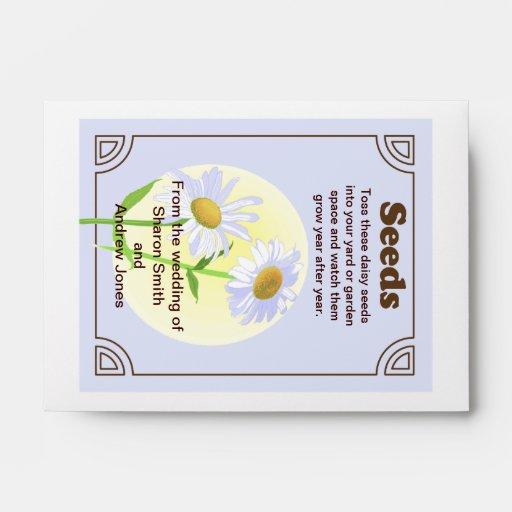 Daisy Seed Packet Wedding Favor Envelopes Zazzle