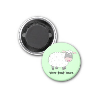 Daisy Sheep 1 Inch Round Magnet